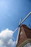 windmill and clouds royalty free stock photography