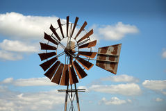 Windmill with clouds Royalty Free Stock Photo