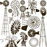 Windmill Collection Stock Photography