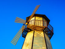 Windmill. Colorful windmill and blue sky Royalty Free Stock Image