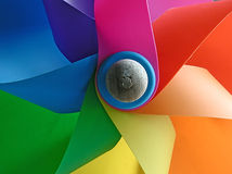 Windmill colors. Details of a toy windmill Royalty Free Stock Images