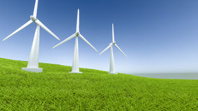 Windmill consept green energy Stock Photo