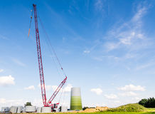 Windmill Construction Site Stock Photo