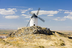Windmill in Consuegra Stock Images