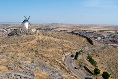 Windmill at Consuegra Stock Photography