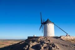 Windmill at Consuegra, La Mancha, Spain Royalty Free Stock Images