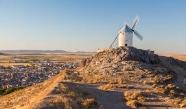 Windmill at Consuegra, La Mancha, Spain Stock Photography
