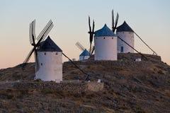 Windmill at Consuegra, La Mancha, Spain Stock Photos
