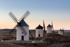 Windmill at Consuegra, La Mancha, Spain Royalty Free Stock Photo