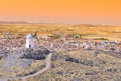 Windmill in Consuegra, Spain. Royalty Free Stock Image