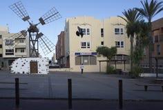 Windmill in Corralejo Fuerteventura Canary islands Spain Stock Photo