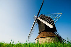 A windmill in the countryside Stock Photo