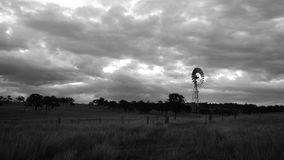 Windmill in the countryside. Windmill in the countryside of Queensland, Australia stock footage