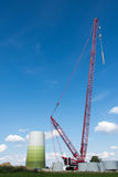 Windmill and Crane Stock Images