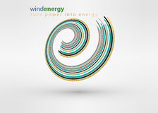 Windmill creative colorful abstract  logo design template circle vortex business icon art company identity symbol concept Royalty Free Stock Photography