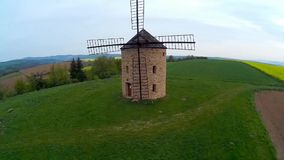 Windmill,Czech republic stock video footage