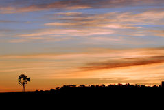 Windmill at dawn in Arizona Royalty Free Stock Image