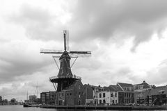 Windmill De Adriaan in Harlem Royalty Free Stock Image