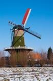 Windmill De Arend im Dorf von Terheijden Lizenzfreie Stockbilder