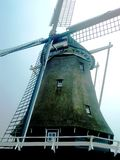Windmill De Herder dans Medemblik, Hollande, Pays-Bas Image libre de droits