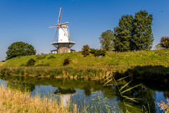 Windmill De Koe. At the raampart of Veere, south holland Royalty Free Stock Photography