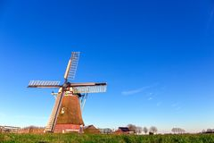 Windmill de Meervogel at winter afternoon Royalty Free Stock Photo