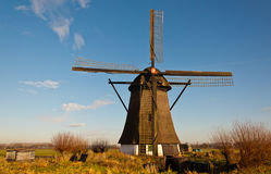 Windmill De Oude Doorn in a Dutch village Royalty Free Stock Photos