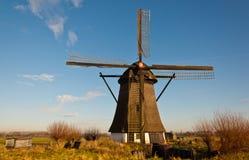 Windmill DE Oude Doorn in een Nederlands dorp Royalty-vrije Stock Foto's