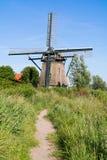 Windmill De Veer dans Veerpolder près de Haarlem, Pays-Bas photographie stock libre de droits