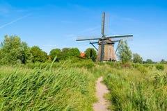 Windmill De Veer in Veerpolder vicino ad Haarlem, Paesi Bassi immagine stock