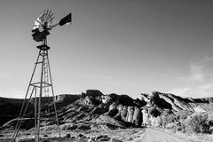 Windmill in the Desert Royalty Free Stock Photos