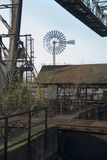 Windmill in duisburg. An old windmill in germany Royalty Free Stock Image