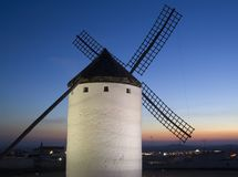 Windmill at Dusk Stock Images