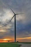 Windmill at dusk. In Romania Royalty Free Stock Photos