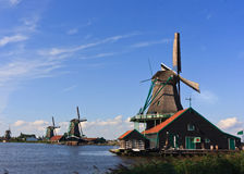 Windmill Dutch Countryside Royalty Free Stock Photos