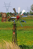 Windmill in Dutch countryside Royalty Free Stock Photography