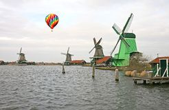 The windmill in Dutch countryside Royalty Free Stock Photo