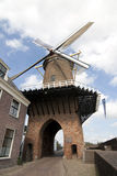 Windmill in Dutch Duurstede Stock Images
