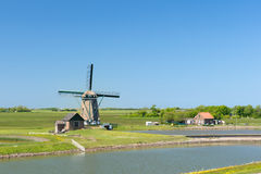 Windmill at Dutch island Texel Royalty Free Stock Photography