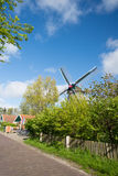 Windmill at Dutch wadden island Terschelling Royalty Free Stock Photos