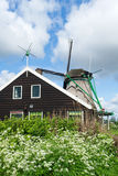 Windmill at Dutch Zaanse Schans Royalty Free Stock Images
