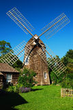 Windmill in East Hampton. The Mulfred Farm Museum contains working windmill on their premises Royalty Free Stock Photos