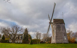 Windmill in East Hampton New York. The East Hampton, New York, town windmill at Christmas time Royalty Free Stock Images