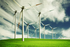 Windmill, eco energy Stock Photography