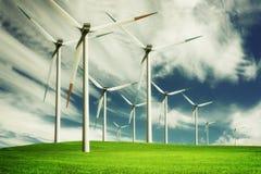 Windmill, eco energy Stock Photography