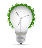 Windmill eco lightbulb illustration design Stock Photography