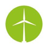 windmill ecology energy icon Stock Image