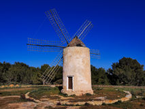Windmill in el Pilar de la Mola, Formentera Royalty Free Stock Images