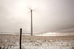 Windmill electrical urbine. Windmill electrical turbine near Gull Lake Saskatchewan Royalty Free Stock Photography