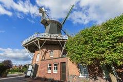 Windmill Esens horizonal with blue sky Royalty Free Stock Photo